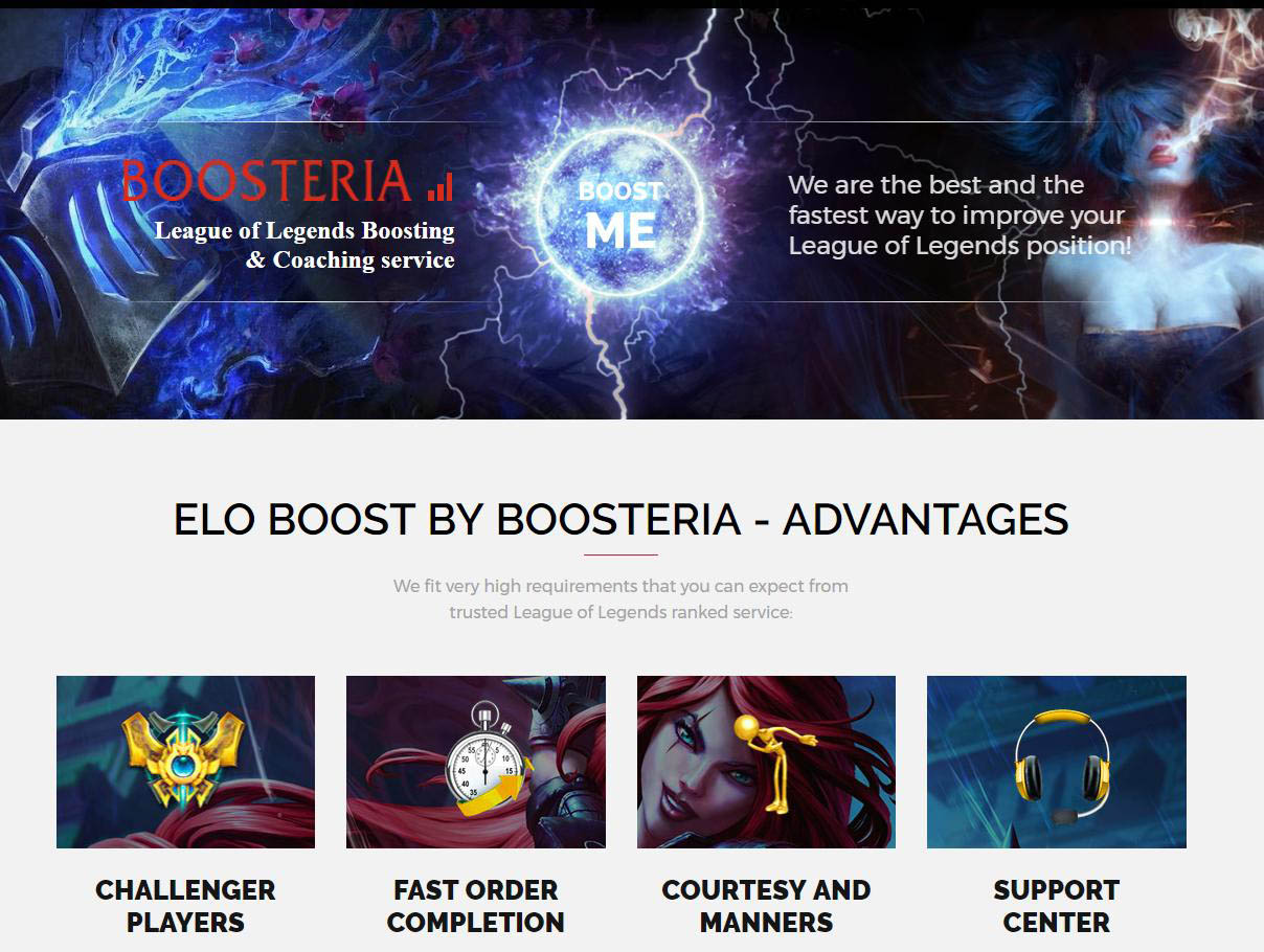 Boosteria official site